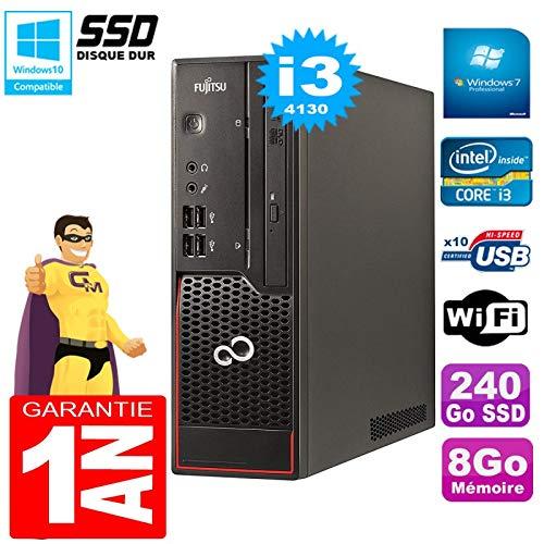 Fujitsu PC Esprimo C720SFF Core i3–41308GB Disco 240Go SSD Grabadora de DVD WiFi W7