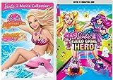 Top Barbie Mermaid & Video Animated Movie Pack Girls Fun Cartoon DVD Squad + A Mermaids Tale 1 & 2 Triple Feature