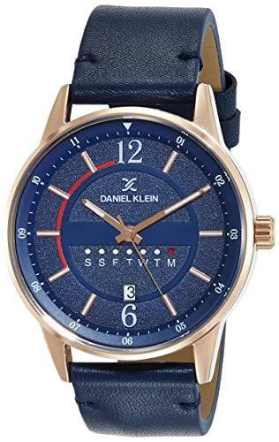 Daniel Klein Analog Blue Dial Men's Watch-DK11650-5