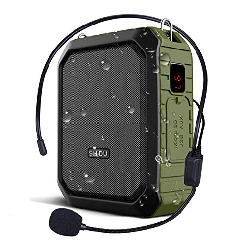 New Voice Amplifier Personal Portable Microphone Headset 18W Hear Loud All in One Bluetooth Speaker, Waterproof, Recording, AUX Jack for Teachers, Outdoor Speech Tour Guide