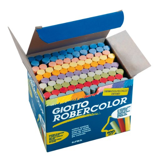 Giotto 5390 00 - RoberColor Wandtafelkreide, Karton mit 100 Stück farbig sortiert