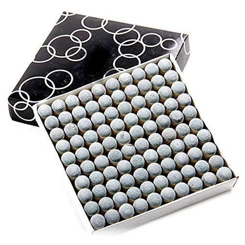 Laxmi Ganesh Billiard Push-on Snooker Pool Cue Stick Slip-on Tips (9 mm) -100 Pieces