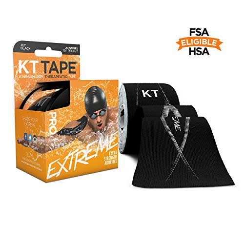 KT Tape Pro Extreme Synthetisches Kinesiologie-Tape, Schwarz, 25.4 cm
