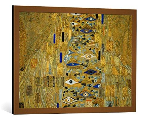 Kunst für Alle Cuadro con Marco: Gustav Klimt Detail Adele