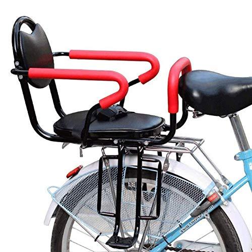 ZCVB Seggiolino Bicicletta Posteriore Universale, con Braccioli Pedali Cintura di Sicurezza Baby Kids Seggiolini di Sicurezza Impermeabile E Resistente all\'Usura per Portabiciclette MTB