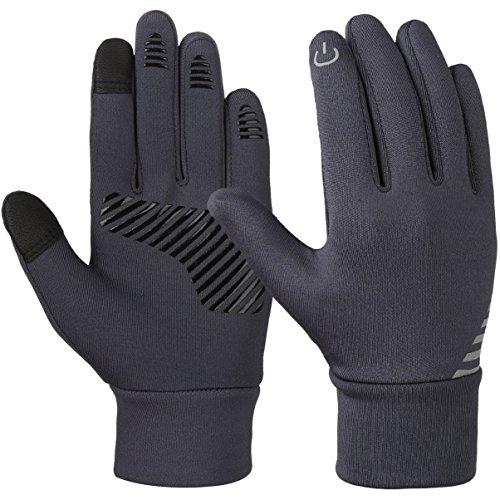 Vbiger Kinder Handschuhe Winterhandschuhe Radhandschuhe Leichte Anti-Rutsch Laufen für Jungen und Mädchen, Grau, Large (8-10 Jahre)