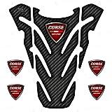 Protector adhesivo resinado compatible con Ducati Monster 696 796 821 1100 Tank Pad depósito...