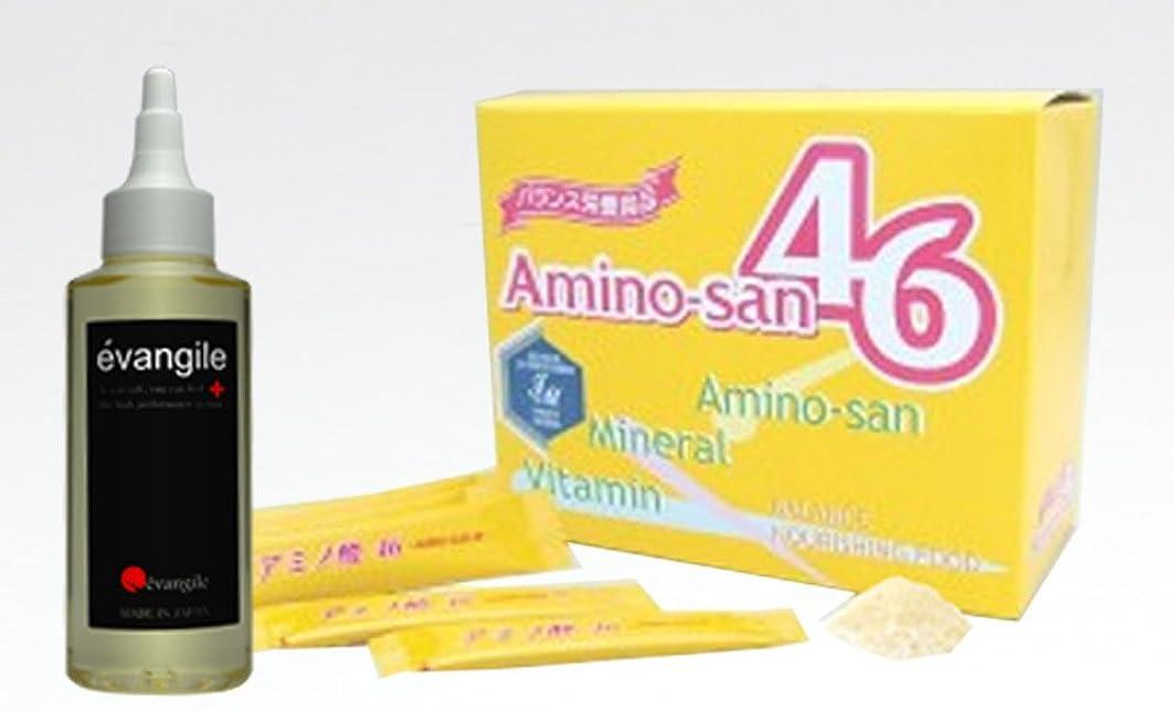もちろんメロン長方形薬用育毛剤エヴァンジル(100ml)+アミノ酸46(1箱)セット:サロン店販品育毛剤 発毛剤 育毛剤 男性用 女性用育毛剤とローヤルゼリー の3倍の栄養価 ポーレン含有 サプリメントのセット