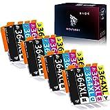 Wolfgray 364XL Cartucho de Tinta Compatible para HP 364XL 364 XL Photosmart 5510 5520 6510 6520 7510 7520 7515 C5380 B8550 B8558 C5324 B110a C309g Deskjet 3070A 3520 3522 Officejet 4620 4622 4610
