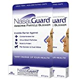 NASALGUARD Allergy Relief and Allergen Blocker Nasal Gel - Drug-Free and Proven Safe for Pollen Allergy Sufferers, Approved for Airplane Travel - Over 150 Applications Per Tube (Unscented, 2-Pack)