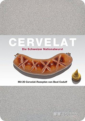 Cervelat - Die Schweizer Nationalwurst, Postkartenbox: Alu-Kartenbox mit 50 Postkarten, inkl. 20 Cervelat-Rezeptkarten von Beat Caduff, zweisprachig d/f