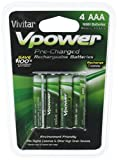 Vivitar VIV-P4AAA-900 NiMH 4 AAA Batteries