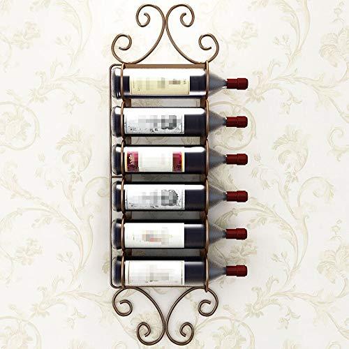 Estante de vino botella de vino estante de exhibic 4-12 Hierro retro botellas de vino de montaje en pared del estante del sostenedor creativo plana Colgando Vino de gabinete en rack soporte del estant