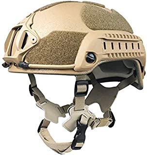 Phalanx Entry Level Coyote Brown Tactical Bump Helmet w/Rails, NVG/Camera Mount and Loop for Patches, Strobes etc.