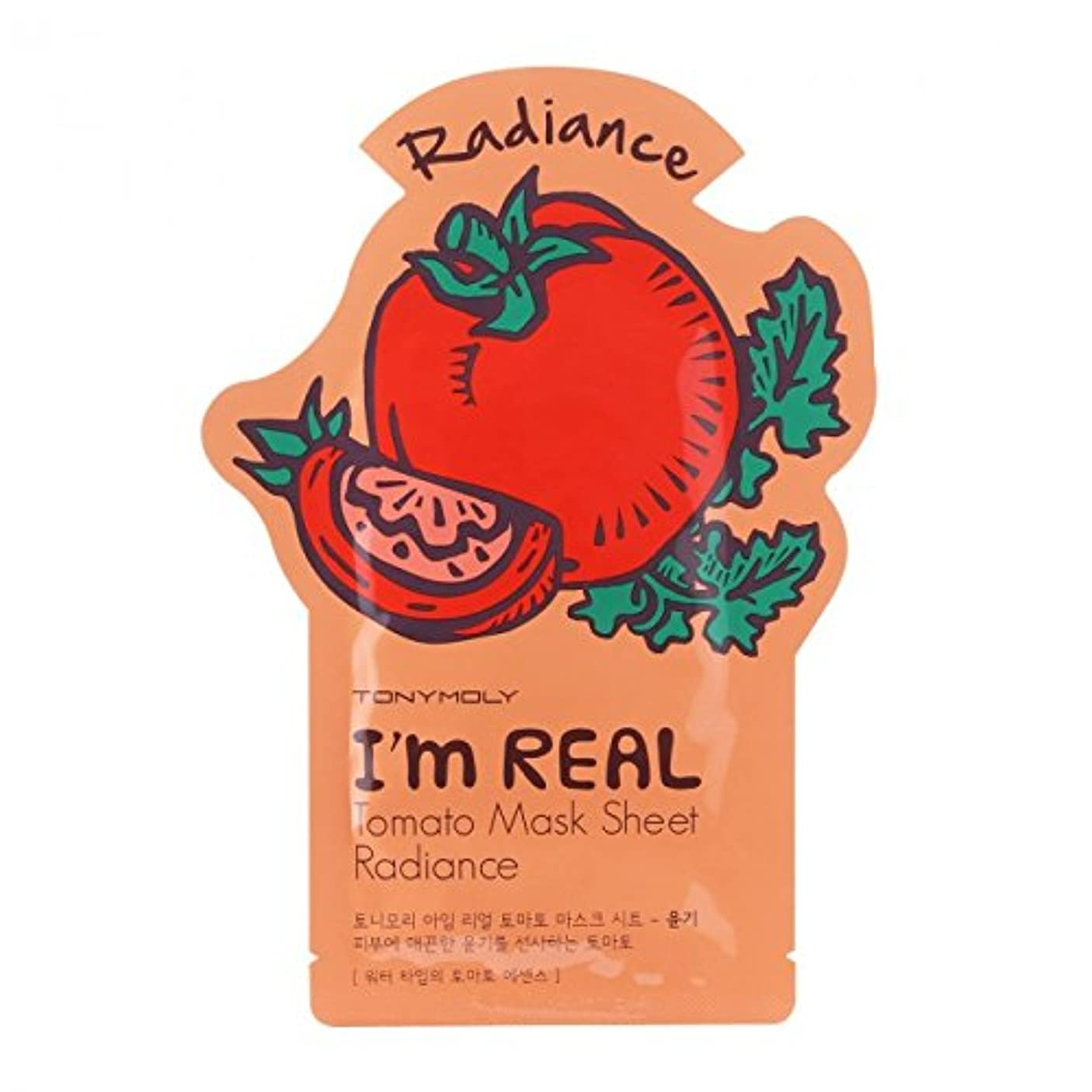線無礼に休日に(6 Pack) TONYMOLY I'm Real Tomato Mask Sheet Radiance (並行輸入品)