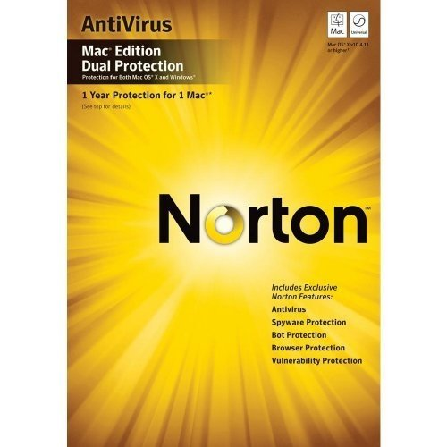 NORTON ANTIVIRUS DUAL PROTECTION 2010 / Mac / englisch / CD / 1User 2PC [import allemand]