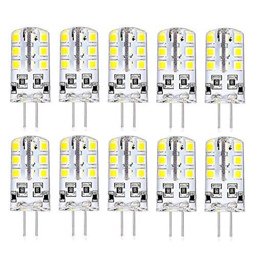 Bombilla LED G4 Mini Bi-Pin T3 Tipo JC 3W AC 220V Tres Cuentas de luz Variable Olor Equivalente 30W Halógena,Ángulo de Haz de 360 ° G4 Lámparas LED de Ahorro de energía,Sin Parpadeo (Paquete d