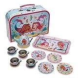 Wobbly Jelly - Set da tè in Metallo e Scatola 'Sirena e Amici' (14 Pezzi di Servizio per Bambini)