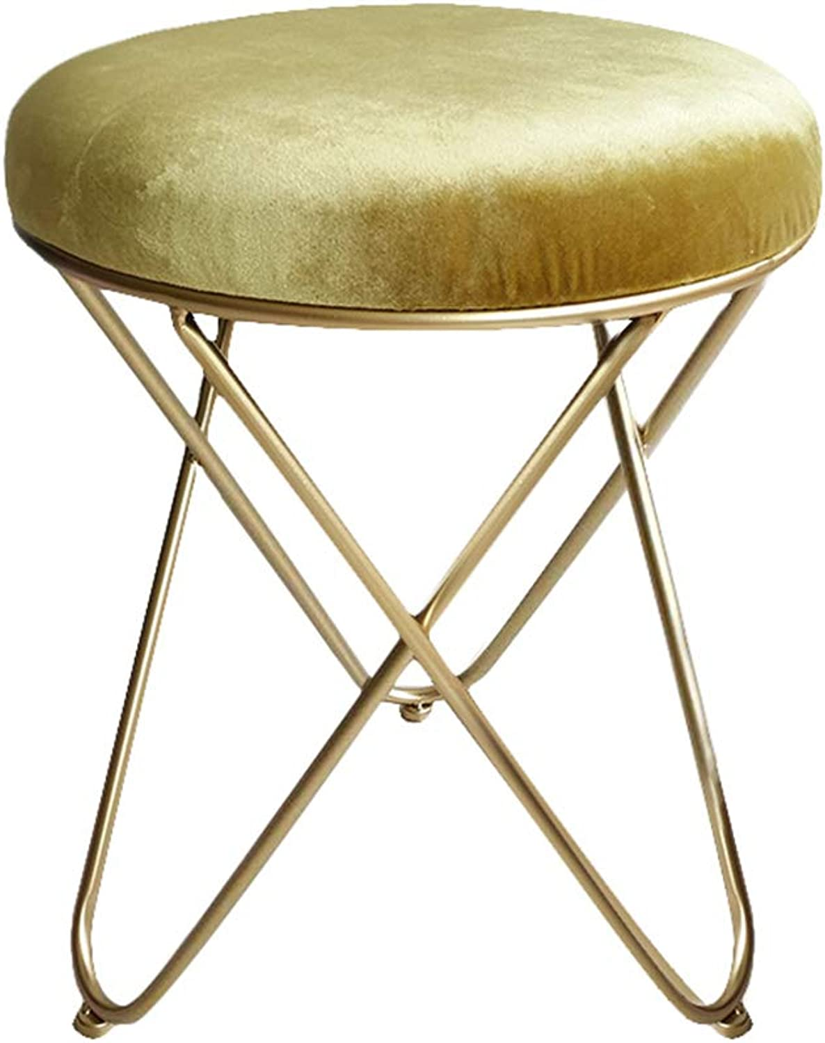 Dressing Table Stool, Makeup Stool, shoes Bench, Household Small Round Stool, -7 color Optional