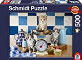 Schmidt Spiele Puzzle 58370 Katzen in der Küche, 500 Teile Puzzle, bunt