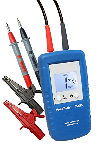 PeakTech Zusatzsender für 3435 Leitungssuchgerät - Leitungsfinder - Ortungsgerät - mit Spannungsmessung und Einstellbarer Kanalkennung, 1 Stück, P 3435 TR