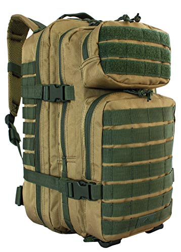 Red Rock Outdoor Gear - Rebel Assault Pack, Coyote with Olive Drab Webbing