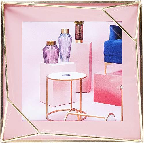 Kare Design Rahmen Art Pastel, Rosa, 10x10cm, edler Bilderrahmen in den Farben Rosa und Gold