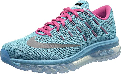 Nike air max 2016 (GS) Running Trainers 807237 Sneakers Shoes (US 5.5 Big Kid, Gamma Blue Reflective Silver Black Ghost Green 400)