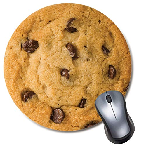 Chocolate Chip Cookie Round Mouse Pad,Cute and Funny Mousepad,Coworker Teacher Gift Mouse Mat