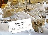 """50 Stück Tischkarten Hochzeit – Platzkarten für Geburtstag, Taufe, Kommunion und Konfirmation mit """"Schön, DASS du da bist"""" Motiv - 7"""