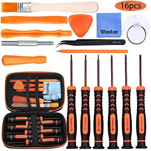 Vastar Schraubendreher für Nintendo Werkzeug Set 16 Stück für Nintendo New 3DS und Wii /NES/SNES /NDS / NDSL /XL 2DS/ GBA/Gamecube Reparatur Werkzeuge Set