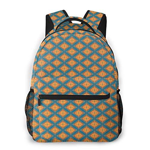 Rucksack Männer und Damen, Laptop Rucksäcke für 14 Zoll Notebook, Oriental 15 Kinderrucksack Schulrucksack Daypack für Herren Frauen