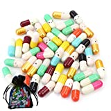 Píldoras con caras sonrientes para escribir mensajes dentro de ellas, para amor o amistad 200Pcs