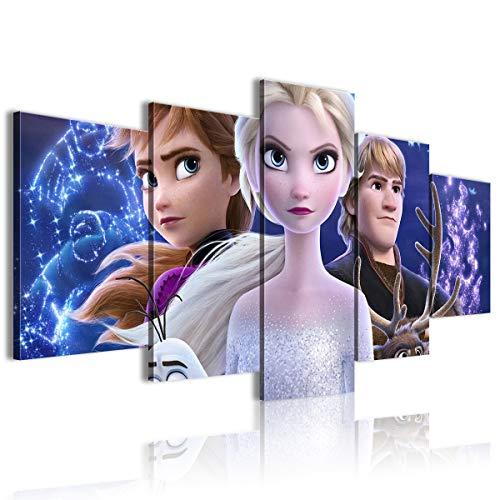 CNLB Cinque poster dipinti congelati soggiorno decorazione 100x50cm incorniciato