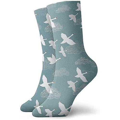 Tammy Jear Herren Kleid Socken Pack Crane Flying Funny Polyester Crew Socken