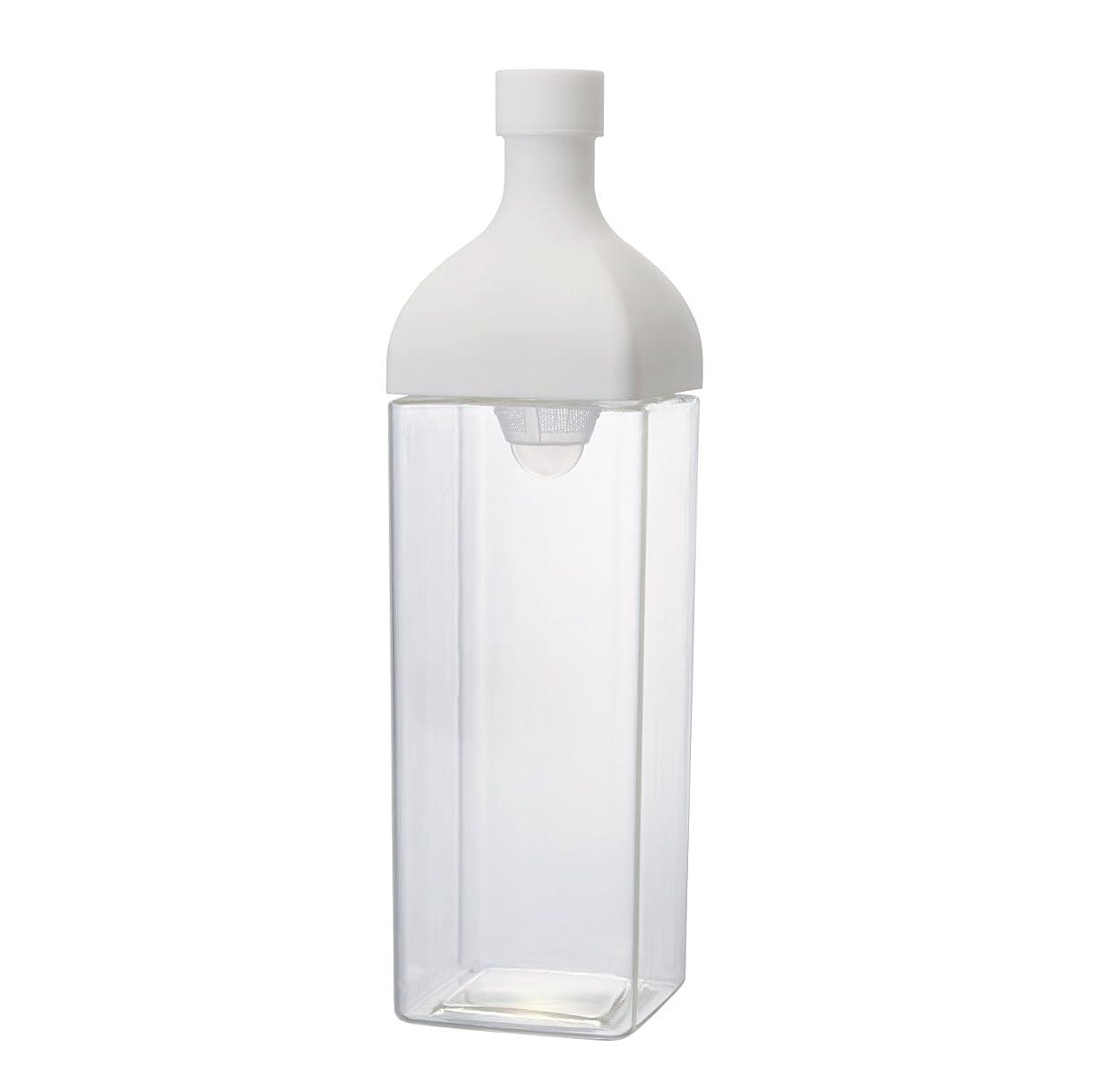 一方、トランジスタテセウスHARIO(ハリオ)  カークボトル スモーキー ホワイト 樹脂製 縦横 ピッチャー 茶こし付き KAB-120-W