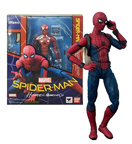 SHF Spider-Man: Homecoming Figura di Azione Spiderman Mobile Toy Model Statue Da Collezione PVC Action Figures 15cm Spiderman