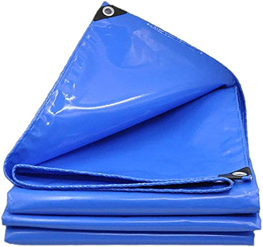 HU Bache imperméable Bleue Externe 550g   m2 de bache imperméable pour la Trame de Fond de Voyage extérieure (Taille   6X8m)