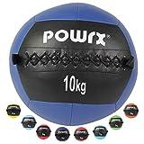 POWRX - Wall ball de 2 a 10 kg - Ideal para Cross training y fortalecimiento muscular - Peso y color a elegir (5 kg / Verde)