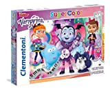 Clementoni- Glitter Vampirina Puzzle, 104 Piezas, Multicolor (27088)