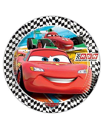 Assiettes Papier Cars 23 cm, ameublement fête enfant Disney Pixar 20380