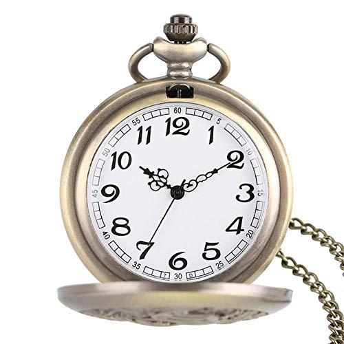 WMYATING Diseño exquisito, hermoso, elegante y único, hermoso reloj de pulsera de cuarzo Amigos reloj de bolsillo colgante