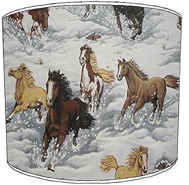 Premier Lighting Ltd 8 inch Cheval Equine Pony Equestrian Print Abat-Jour 7 pour Un plafonnier