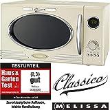 Adexi Melissa 163-30089 Mikrowelle / 900 W / 25 L Garraum / Design Mikrowelle mit Grill / creme