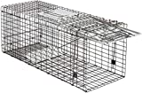 HomGarden Live Animal Trap 32inch Catch Release Humane Rodent Cage for Raccoon, Rabbit, Groundhog, Stray Cat, Squirrel,...