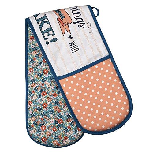 Premier Housewares Doppelter Ofen-Handschuh, hübsche Sachen, 100% Baumwolle