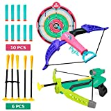 2 in 1 Bow and Arrow Toy Kids Archery Play Set with Suction Cup Arrows,Chuck Bullets and Quiver for Boys Girls...