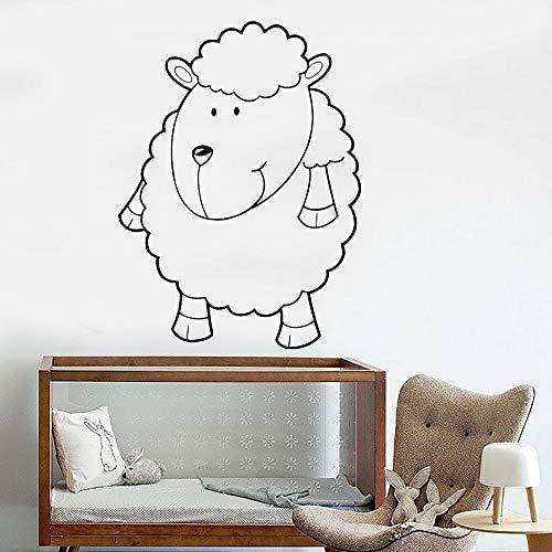 Glückliche Schafe Wandtattoo Wohnzimmer Kinder lustige Cartoon Tier Vinyl Wandaufkleber Schlafzimmer Dekoration 36X50cm