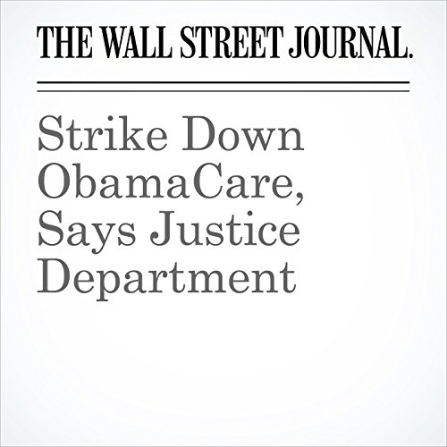 Strike Down ObamaCare, Says Justice Department copertina
