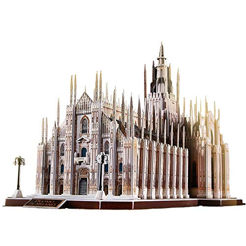 National 3D Puzzle For Adults Kids Milan Cathedral Building Church Model Kits Toys For Teens 251 Pieces